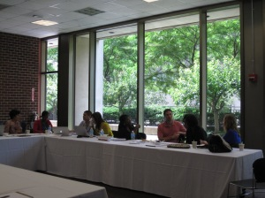 2013 Incoming Fellows discuss ethical case studies at the HIV Prevention Research Ethics Training Institute