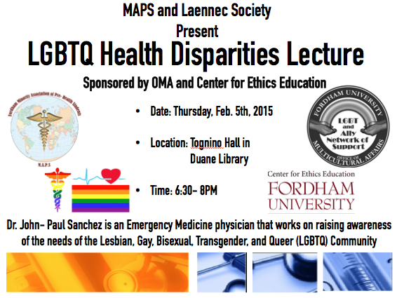 lecture on LGBTQ Health Disparities