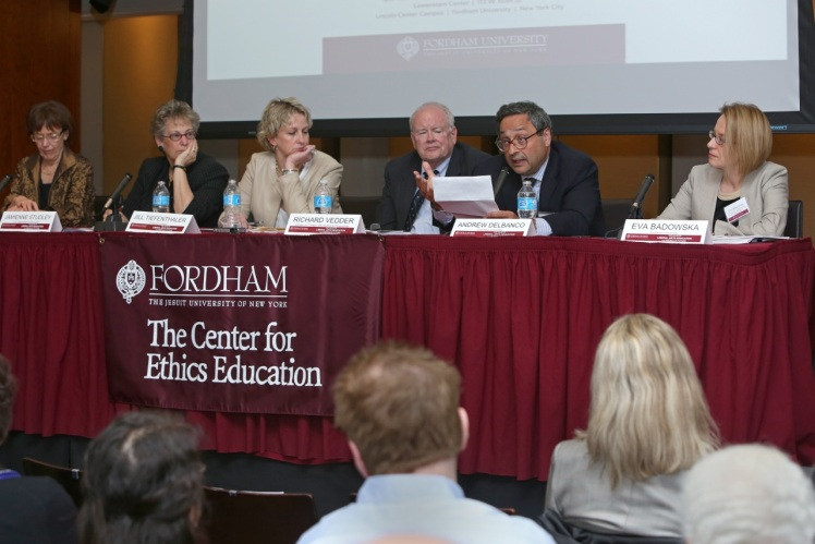 The panel addresses the value of liberal arts education.