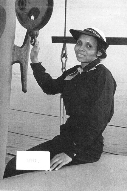 Dr. Olivia J. Hooker during her time in the Coast Guard. Photo from the United States Coast Guard via the Wall Street Journal.
