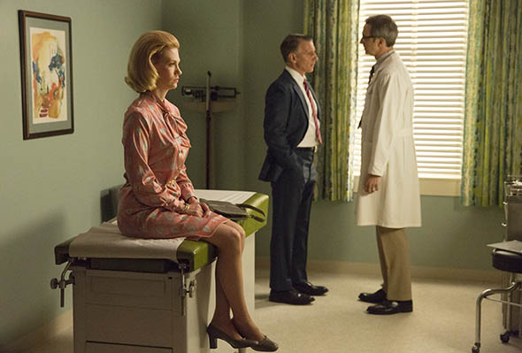 January Jones as Betty Draper-Francis on AMC's Mad Men.